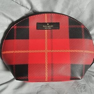Kate Spade Medium Dome Cosmetic Bag Plaid